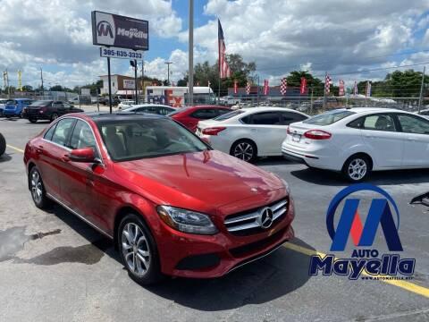 2016 Mercedes-Benz C-Class for sale at Auto Mayella in Miami FL