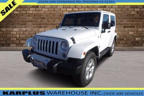 2014 Jeep Wrangler for sale at Karplus Warehouse in Pacoima CA