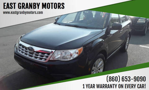 2012 Subaru Forester for sale at EAST GRANBY MOTORS in East Granby CT