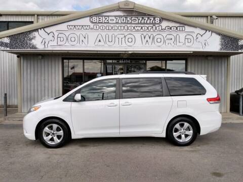 2014 Toyota Sienna for sale at Don Auto World in Houston TX