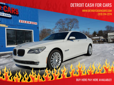 2012 BMW 7 Series for sale at Detroit Cash for Cars in Warren MI