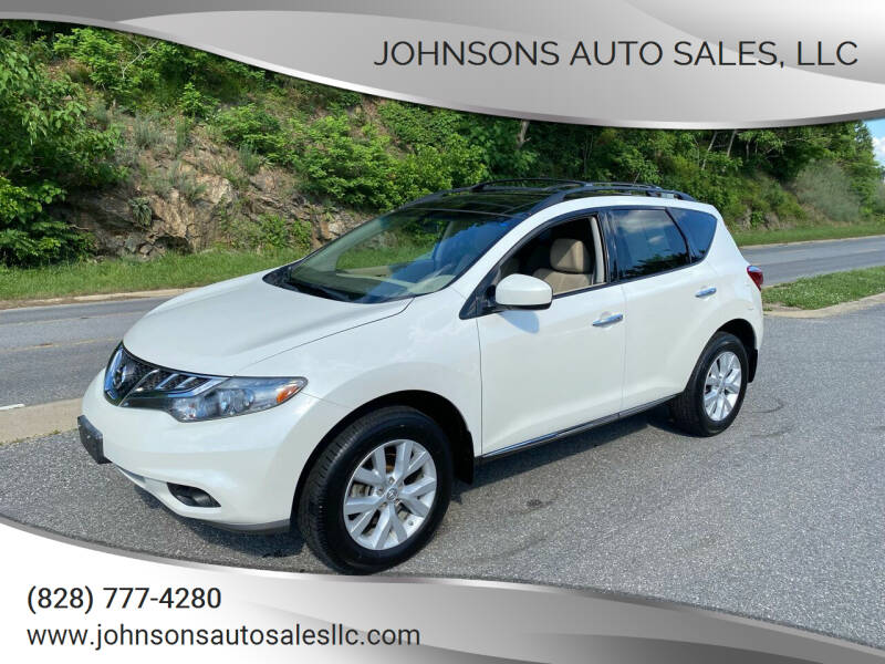2012 Nissan Murano for sale at Johnsons Auto Sales, LLC in Marshall NC