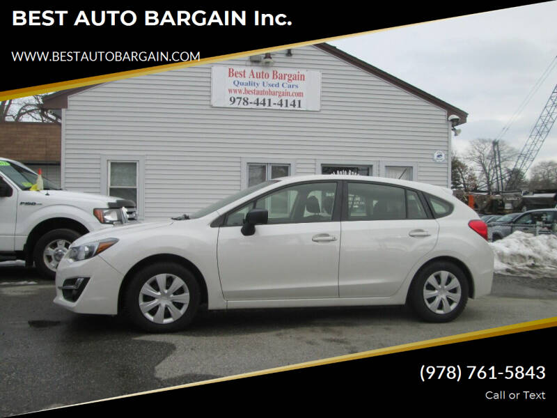 2015 Subaru Impreza for sale at BEST AUTO BARGAIN inc. in Lowell MA