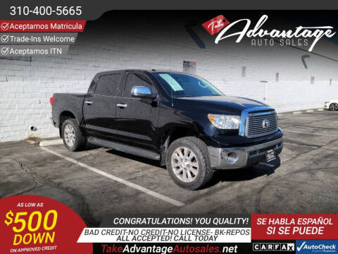 2012 Toyota Tundra for sale at ADVANTAGE AUTO SALES INC in Bell CA