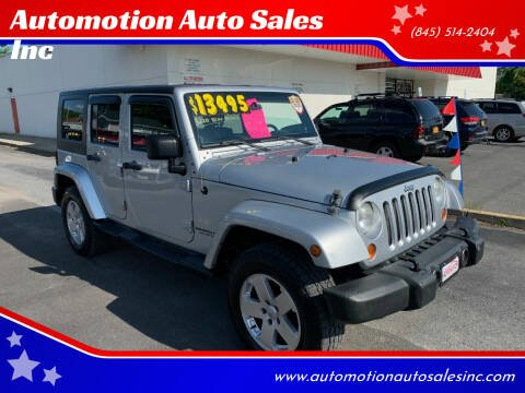 2007 Jeep Wrangler Unlimited for sale at Automotion Auto Sales Inc in Kingston NY