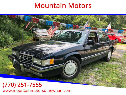 1992 Cadillac DeVille for sale at Mountain Motors in Newnan GA