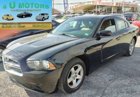 2012 Dodge Charger for sale at 4 U MOTORS in El Paso TX
