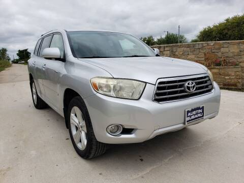 2008 Toyota Highlander for sale at Hi-Tech Automotive - Kyle in Kyle TX