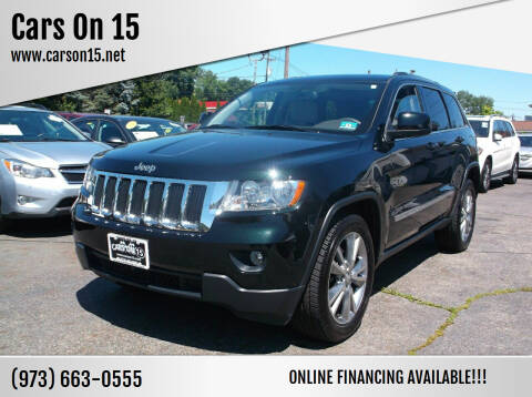 2013 Jeep Grand Cherokee for sale at Cars On 15 in Lake Hopatcong NJ