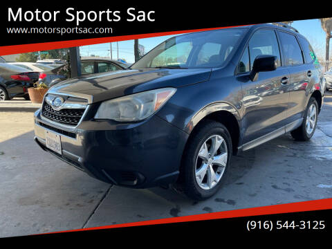 2014 Subaru Forester for sale at Motor Sports Sac in Sacramento CA