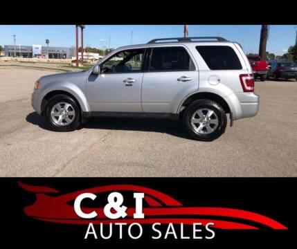 2009 Ford Escape for sale at C & I Auto Sales in Rochester MN