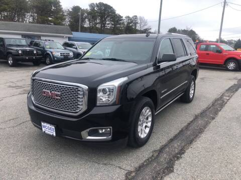 2015 GMC Yukon for sale at U FIRST AUTO SALES LLC in East Wareham MA