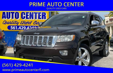 2012 Jeep Grand Cherokee for sale at PRIME AUTO CENTER in Palm Springs FL