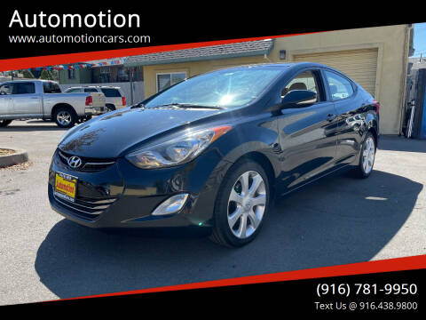 2012 Hyundai Elantra for sale at Automotion in Roseville CA