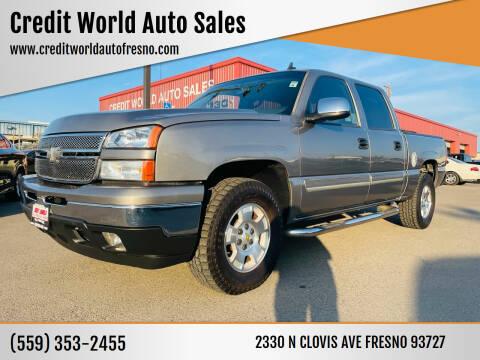 2006 Chevrolet Silverado 1500 for sale at Credit World Auto Sales in Fresno CA