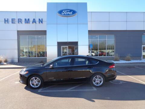 2018 Ford Fusion Hybrid for sale at Herman Motors in Luverne MN