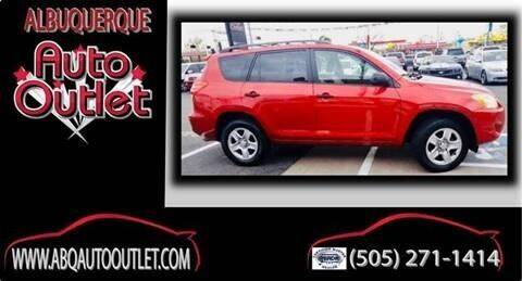 2009 Toyota RAV4 for sale at ALBUQUERQUE AUTO OUTLET in Albuquerque NM