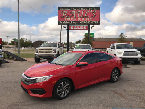 2016 Honda Civic for sale at RAUL'S TRUCK & AUTO SALES, INC in Oklahoma City OK