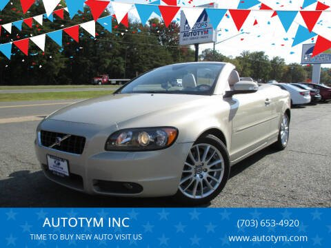 2008 Volvo C70 for sale at AUTOTYM INC in Fredericksburg VA