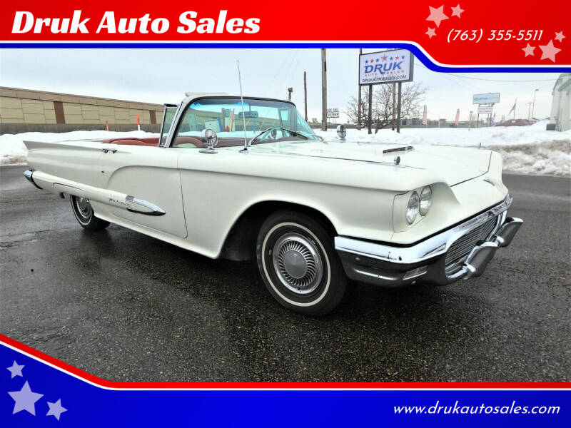 1959 Ford Thunderbird for sale at Druk Auto Sales in Ramsey MN
