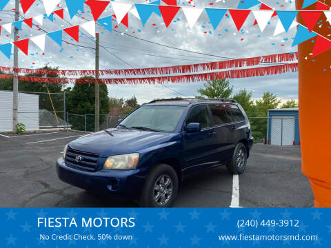 2004 Toyota Highlander for sale at FIESTA MOTORS in Hagerstown MD