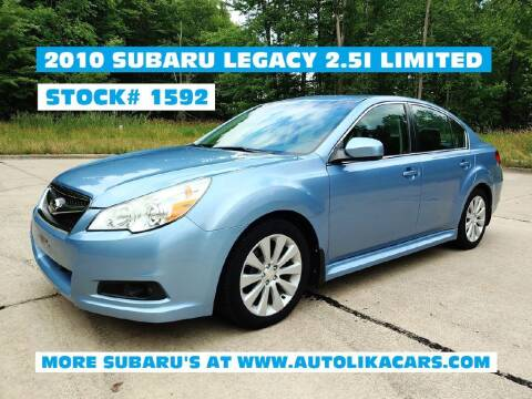 2010 Subaru Legacy for sale at Autolika Cars LLC in North Royalton OH