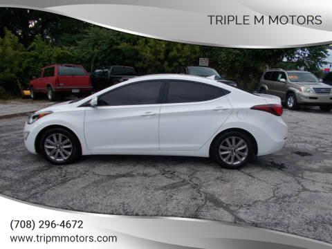 2014 Hyundai Elantra for sale at Triple M Motors in Saint John IN