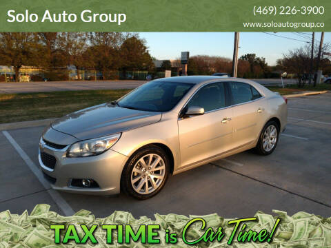 2015 Chevrolet Malibu for sale at Solo Auto Group in Mckinney TX