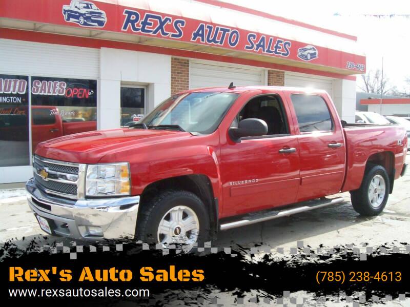 2012 Chevrolet Silverado 1500 for sale at Rex's Auto Sales in Junction City KS