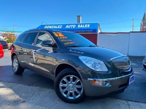 2012 Buick Enclave for sale at Gonzalez Auto Sales in Joliet IL