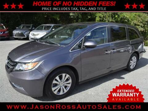 2016 Honda Odyssey for sale at Jason Ross Auto Sales in Burlington NC