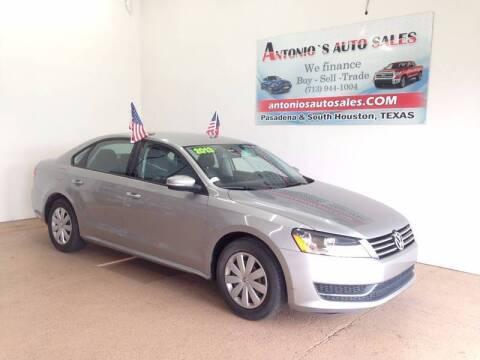2013 Volkswagen Passat for sale at Antonio's Auto Sales - Antonio`s  3001 in Pasadena TX