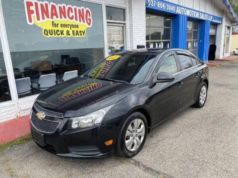 2012 Chevrolet Cruze for sale at AutoMotion Sales in Franklin OH