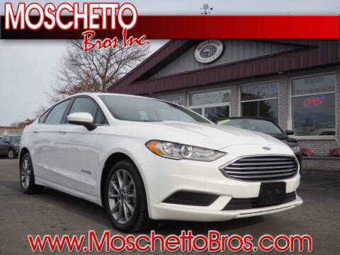 2017 Ford Fusion Hybrid for sale at Moschetto Bros. Inc in Methuen MA