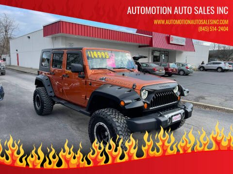 2010 Jeep Wrangler Unlimited for sale at Automotion Auto Sales Inc in Kingston NY