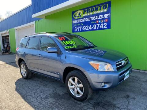2007 Toyota RAV4 for sale at PRONTO AUTO SALES INC in Indianapolis IN