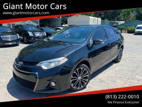 2014 Toyota Corolla for sale at Giant Motor Cars in Tampa FL