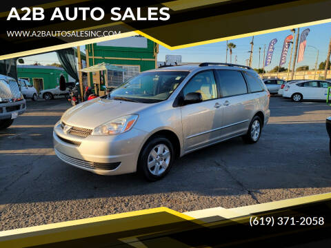 2004 Toyota Sienna for sale at A2B AUTO SALES in Chula Vista CA
