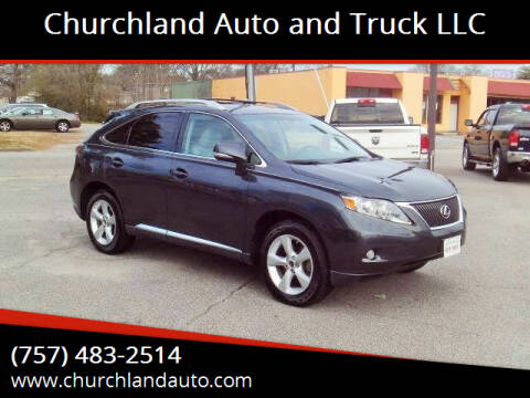 2010 Lexus RX 350 for sale at Churchland Auto and Truck LLC in Portsmouth VA