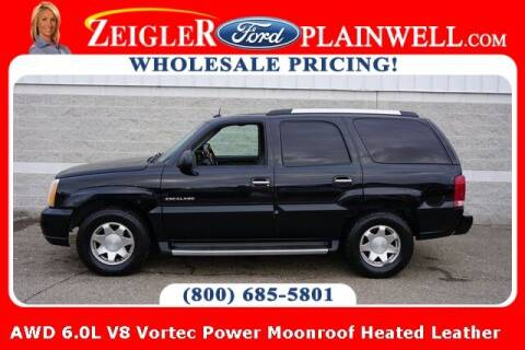 2003 Cadillac Escalade for sale at Zeigler Ford of Plainwell- Jeff Bishop in Plainwell MI