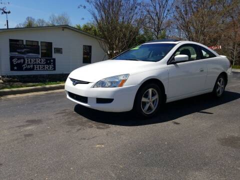 2003 Honda Accord for sale at TR MOTORS in Gastonia NC