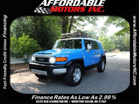 2007 Toyota FJ Cruiser for sale at AFFORDABLE MOTORS INC in Winston Salem NC
