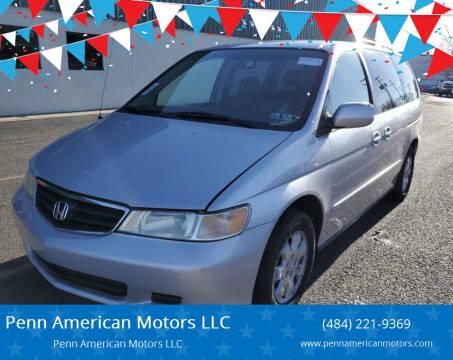 2004 Honda Odyssey for sale at Penn American Motors LLC in Allentown PA