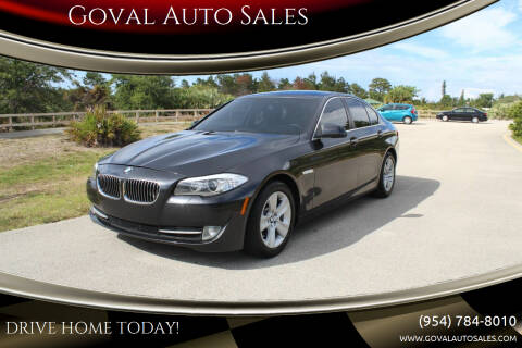 2013 BMW 5 Series for sale at Goval Auto Sales in Pompano Beach FL