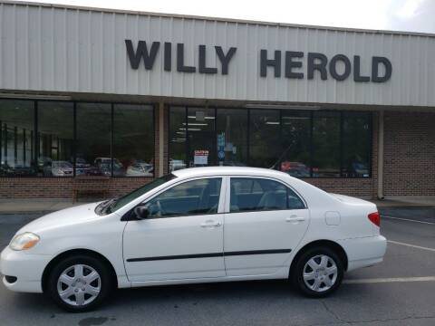 2007 Toyota Corolla for sale at Willy Herold Automotive in Columbus GA