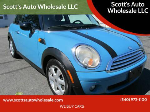 2008 MINI Cooper for sale at Scott's Auto Wholesale LLC in Locust Grove VA