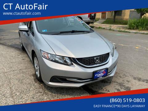 2014 Honda Civic for sale at CT AutoFair in West Hartford CT