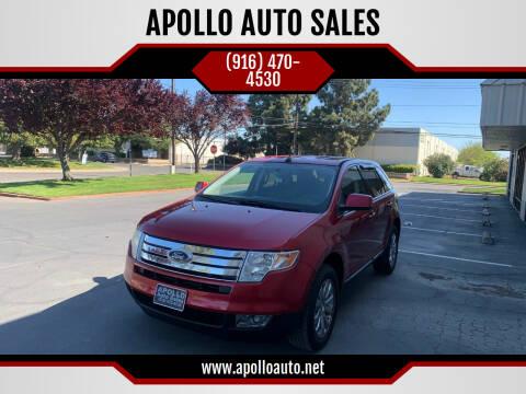 2008 Ford Edge for sale at APOLLO AUTO SALES in Sacramento CA
