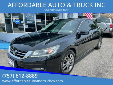 2015 Honda Accord for sale at AFFORDABLE AUTO & TRUCK INC in Virginia Beach VA