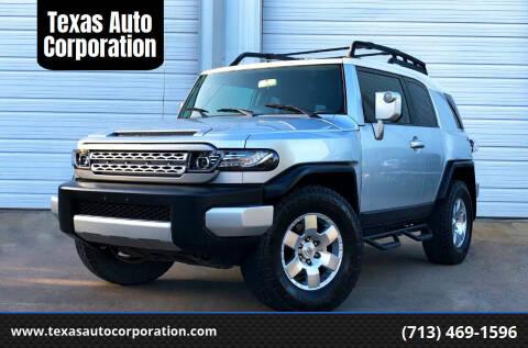 2008 Toyota FJ Cruiser for sale at Texas Auto Corporation in Houston TX